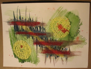 012 - Oil pastel and watercolor on paper. Created 2008