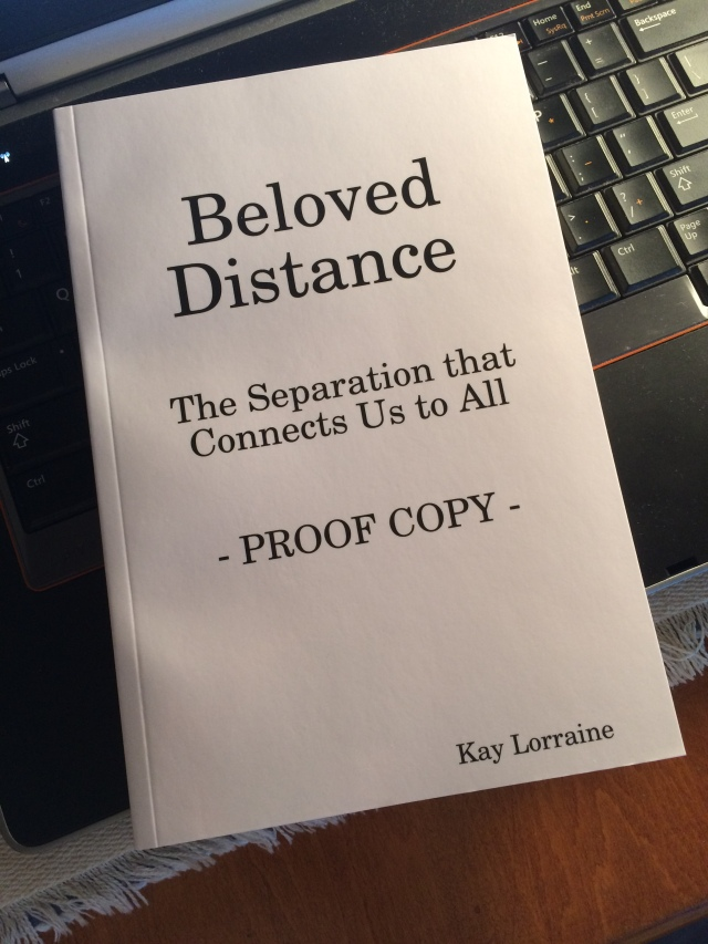 Beloved Distance proof copy cover