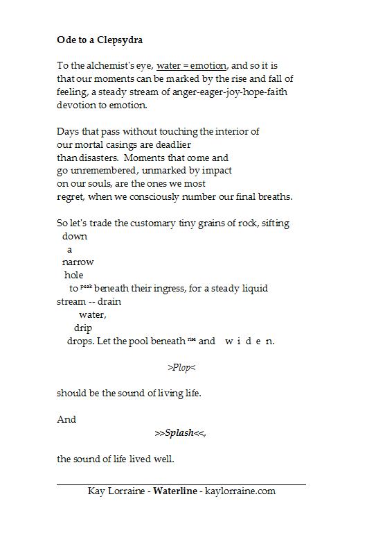 Ode to a Clepsydra